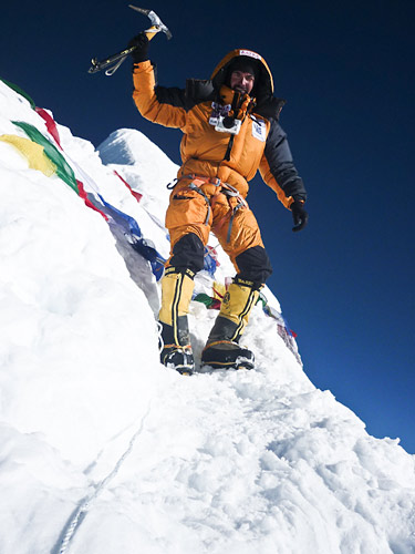 Alex Gavan on the summit of Manaslu