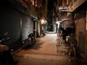 A Tuesday evening deserted Kathmandu