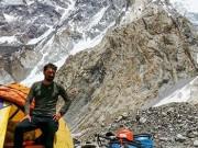 Alex Gavan in Tabara de Baza Broad Peak dupa ascensiunea varfului